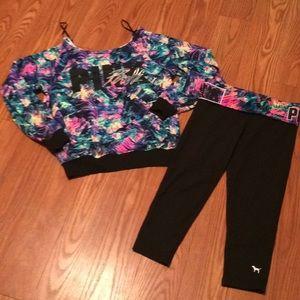 PINK Outfit!  Shirt and Capri leggings!